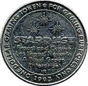 1 Dollar Gaming Token - Stardust Resort and Casino (Las Vegas) – obverse
