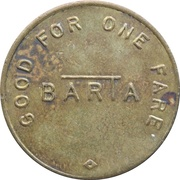1 Fare - BARTA (Reading, Pennsylvania) – reverse