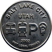 Transit / Parking Token - Downtown SLC (Salt Lake City, Utah) – obverse