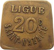 20 Centimes - Ligue (Saint-Nazaire [44]) – obverse