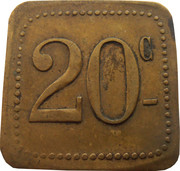 20 Centimes - Ligue (Saint-Nazaire [44]) – reverse