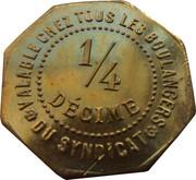 ¼ Décime - Chambre Syndicale des Patrons Boulangers (Paimboeuf) – reverse