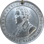Robert Raikes Centenary of Sunday Schools 1880 – obverse