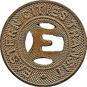 1 Fare Token - Eastern Cities Transit (East Los Angeles, California) – obverse