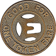 1 Fare Token - Eastern Cities Transit (East Los Angeles, California) – reverse