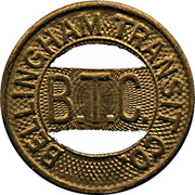 1 Fare - Bellingham Transit Co. (Brass) – obverse