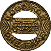 1 Fare - Bellingham Transit Co. (Brass) – reverse