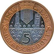 5 Delftsche Duyt - Delft (750 years) – reverse