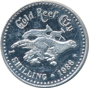 1 Shilling - Gold Reef City – reverse