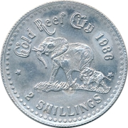 2 Shillings - Gold Reef City – reverse