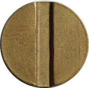 Token - Ministry of Trade (13; 1 vertical groove) – reverse