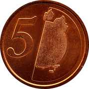 5 Cents (Training Token) – reverse