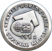 Medal - Seattle World's Fair 1962 (Space Needle) – reverse