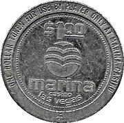 1 Dollar Gaming Token - Marina Casino (Las Vegas) – obverse