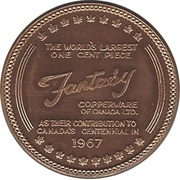 "Medallion - Sudbury ""Numismatic Park"" (1 Cent) – obverse"