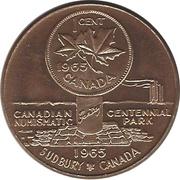 "Medallion - Sudbury ""Numismatic Park"" (1 Cent) – reverse"