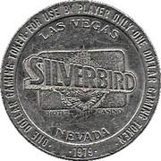 1 Dollar Gaming Token - Silverbird Casino (Las Vegas) – obverse