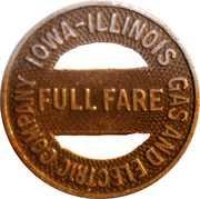 Full Fare - Iowa-Illinois Gas and Electric Company(Rock Island, Illinois) – obverse