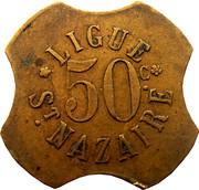 50 Centimes Ligue (Saint-nazaire[44]) – obverse