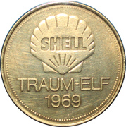 Shell Token - Traum-Elf 1969 (Franz Beckenbauer) – reverse
