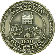 Medal - 300th Anniversary Simsbury Connecticut – obverse