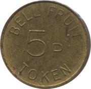 5 Pence - Bell Fruit Token – reverse