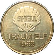 Shell Token - Traum-Elf 1969 (Wolfgang Overath) – reverse