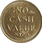 Token - No Cash Value (Eagle looking right; 22.5 mm; Brass; long teeth) – reverse
