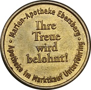 Hiebel Taler - Marien Apotheke (Ebersberg) – obverse