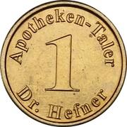 Hefner Taler - Dr. Hefner Apotheke – reverse