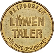 Löwen Taler - Löwen Apotheke (Betzdorf) – reverse