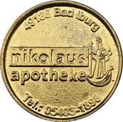 Pharmacy Token - Nikolaus Apotheke & Neumarkt Apotheke (Osnabrück, Bad Iburg) – obverse