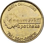 Pharmacy Token - Nikolaus Apotheke & Neumarkt Apotheke (Osnabrück, Bad Iburg) – reverse