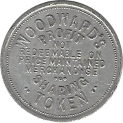 1 Cent - Woodward's – reverse