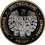 Token - Deutschland Einigkeit Recht Freiheit (Bremen) – reverse