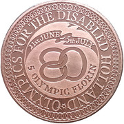 5 Florin (Olympics for the disabled) – obverse