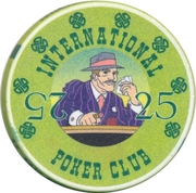 Casino Token - International Poker Club (25) – obverse