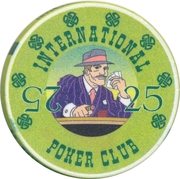 Casino Token - International Poker Club (25) – reverse