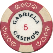 Casino Token - Gabriela (5) – obverse