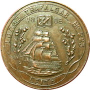 Token - Lodge Trafalgar Leith – obverse