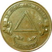 Token - Lodge Trafalgar Leith – reverse