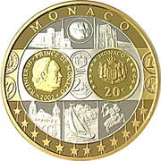 Token - European Currency (Monaco - 20 Euro 2002) – obverse