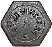 "Token - Viação Novacap S.A (hexagonal; without final point in ""S.A"") – obverse"