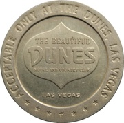 ½ Dollar Gaming Token - Dunes Hotel & Country Club – obverse