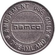Game Token - Namco Dreamland – reverse