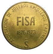 Token - Association of jewelers, watchmakers (FISA 73) – reverse