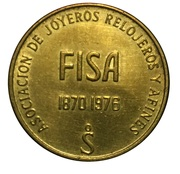 Token - Association of jewelers, watchmakers (FISA 76) – reverse