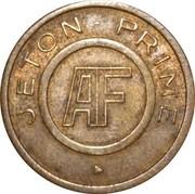 Jeton Prime - AF (inscribed both sides) – obverse