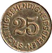25 Cents - Stichting behendigheidsspelen – reverse