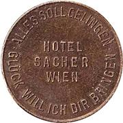 New Year Lucky Token - Sacher Hotel (Wien) – reverse